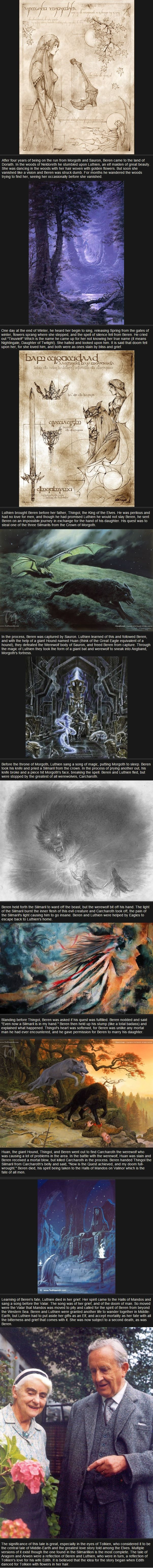 Relatively Unknown LoTR Facts - Of Beren and Luthien AWWWWWWWWWWWWWWWWWWWWWWWWWWWWWWWWWWWWWWWWWWWWWWWWW!