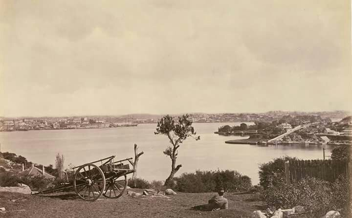 View across Lavender Bay in Sydney in 1877.Photo from State Library of NSW.A♥W