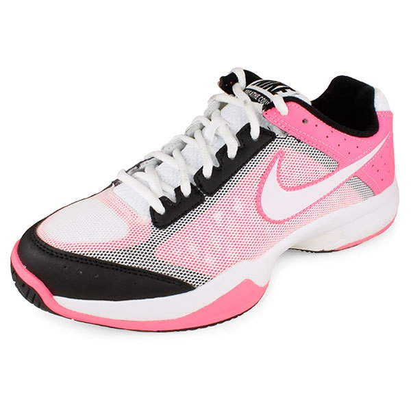 Women`s Air Cage Court Tennis Shoes Pure White/Polarized Pink