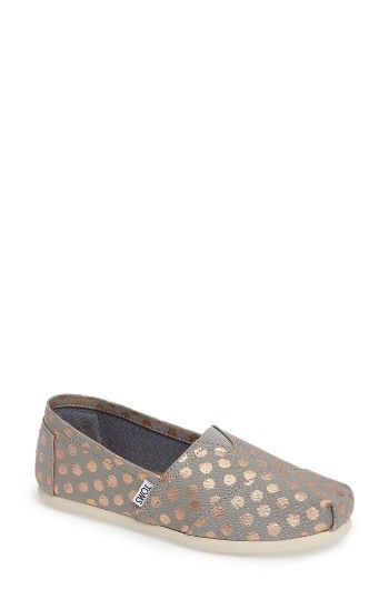 Free shipping and returns on TOMS Polka Dot Alpargata Slip-On (Women) at Nordstrom.com. Bedecked with shimmery polka dots, these casual, comfortable slip-ons feature TOMS' signature center goring panel and asymmetrical toe cap.