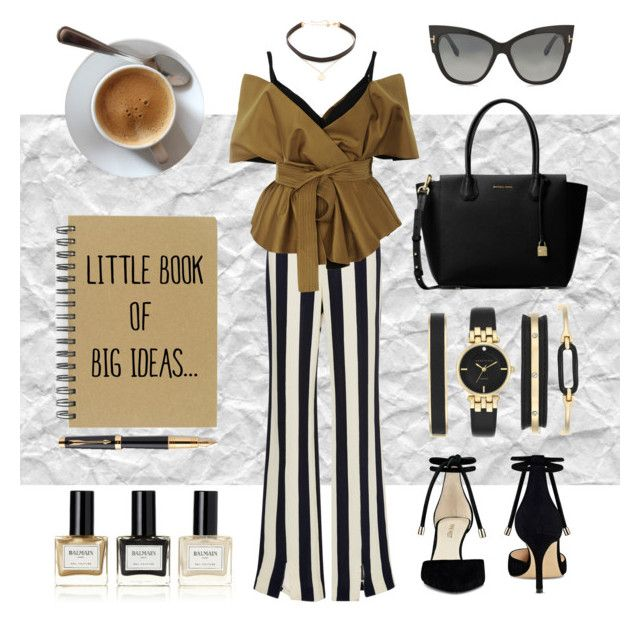 """""""Outfit #4"""" by anakhai on Polyvore featuring Courrèges, Acler, Nine West, MICHAEL Michael Kors, Tom Ford, Jennifer Zeuner, Anne Klein, Parker and Balmain"""