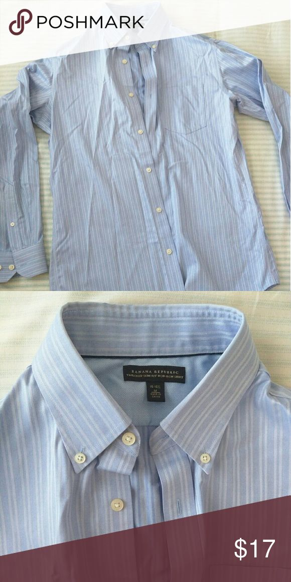Banana Republic tailored slim fit Banana Republic tailored slim fit non iron dress shirt  Very pristine/ excellent condition (Not outlet/factory style) Neck 15-15.5  100% cotton 2 extra buttons included Banana Republic Shirts Dress Shirts