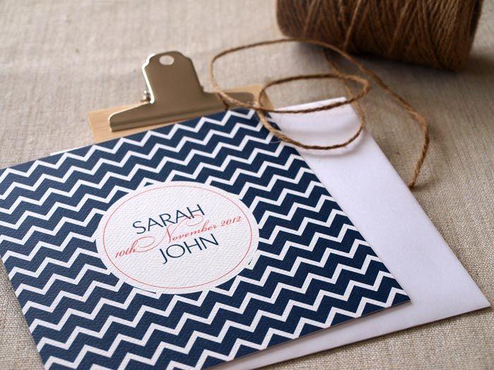 Navy, chevron wedding invitation // Wedding Invitations by Alannah Rose