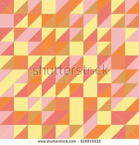 Vector yellow abstract triangle seamless pattern texture background