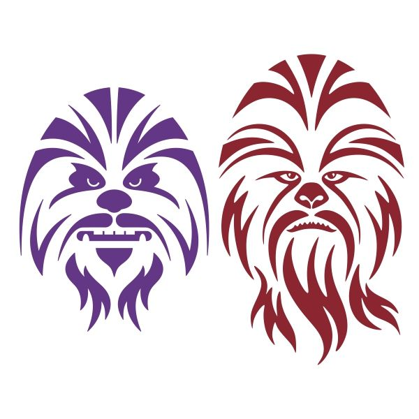 Chewbacca Cuttable Design Cut File. Vector, Clipart, Digital Scrapbooking Download, Available in JPEG, PDF, EPS, DXF and SVG. Works with Cricut, Design Space, Cuts A Lot, Make the Cut!, Inkscape, CorelDraw, Adobe Illustrator, Silhouette Cameo, Brother ScanNCut and other software.