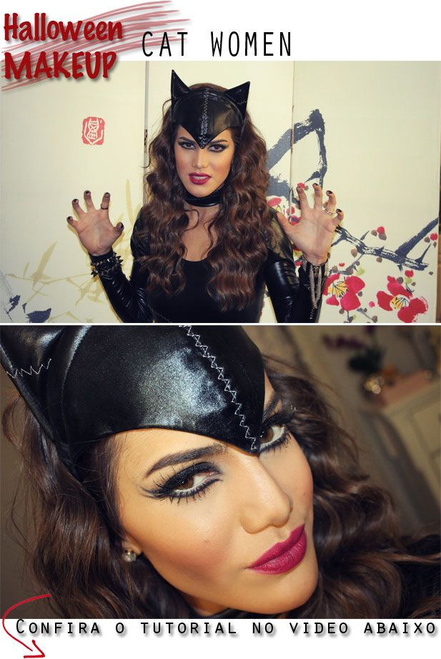 Bom diaaa, Vaidosas! Hoje é Sexta e voltei com mais uma maquiagem especial de Halloween #Adoro! A minha segunda escolha foi a fantasia de Cat Women, uma Mulher Gato super sensual e poderosa haha. Como sempre, me diverti muitooo fazendo o tutorial e espero que vocês se divirtam junto comigo P.S: Essa make da pra...