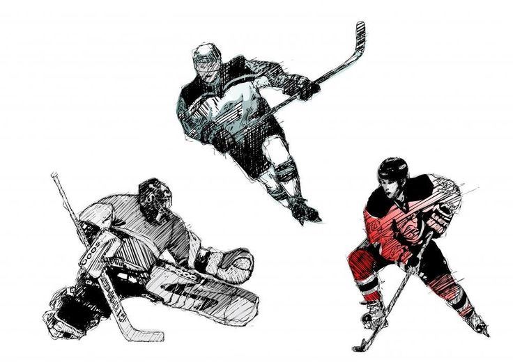 Wallmonkeys Ice Hockey Tiro Peel and Stick Wall Decals WM37814 (48 in W x 34 in H) -- You can get more details here (This is an amazon affiliate link. I may earn commission from it)