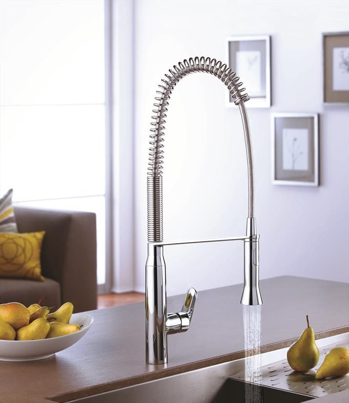 K7 Single Handle Kitchen Faucet With High Arc Pull Down Spray