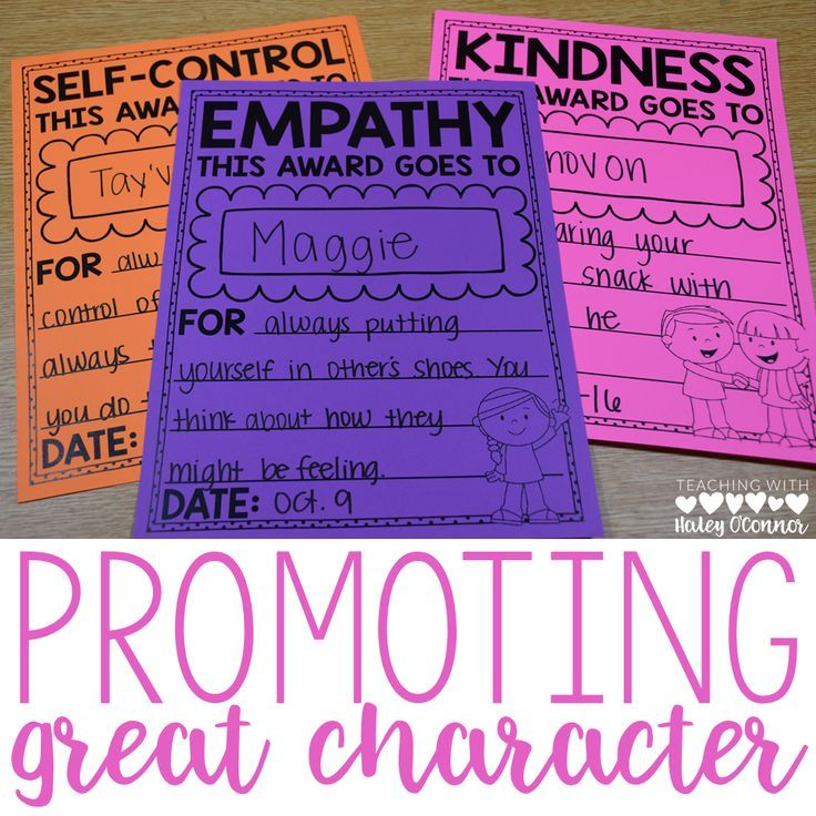 Awards to give to students who show great character. Character Education in the classroom is so important, and these awards make it easy to encourage kindness, self-control, leadership, and more.