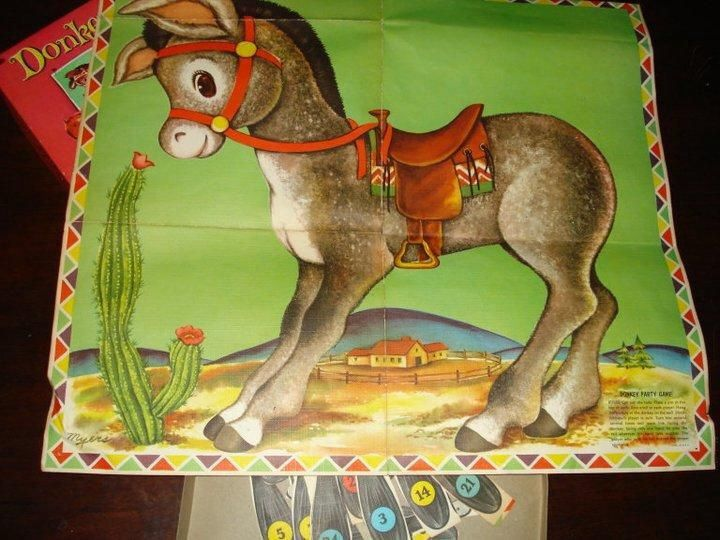 Birthday Game...Pin The Donkey's Tail