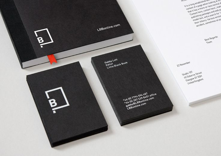 Little Black Book identity by BERG