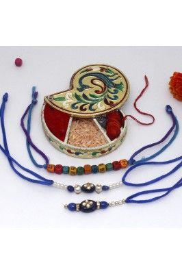 Impress your brother with this Tilak Shape Chopda And Bhaiya Bhabhi Designer Rakhi Set #rakhiset #gifthampers #rakhionline #gifthampersonline Shop here- https://trendybharat.com/festival/rakhi-gifts/rakhi-online/tilak-shape-chopda-and-bhaiya-bhabhi-designer-rakhi-set-gsmrkh0904
