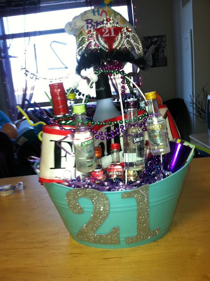 21st birthday basket!!
