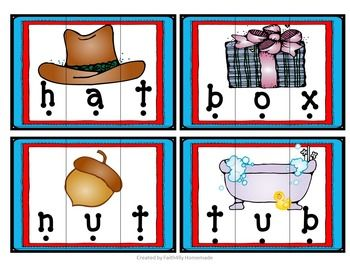 FREE Short Vowel Word Puzzles. These word puzzles are perfect for early…