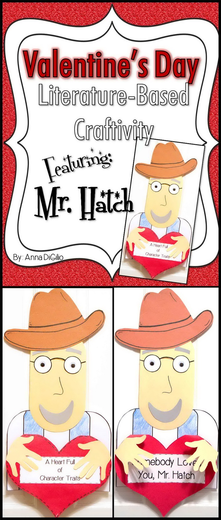 Get ready to FALL IN LOVE with the story Somebody Loves You, Mr. Hatch by Eileen Spinelli!  This unit has an adorable Craftivity of Mr. Hatch along with summarizing skills, character traits, and sequencing events in a story.  Adorable, hands-on, and FUN!