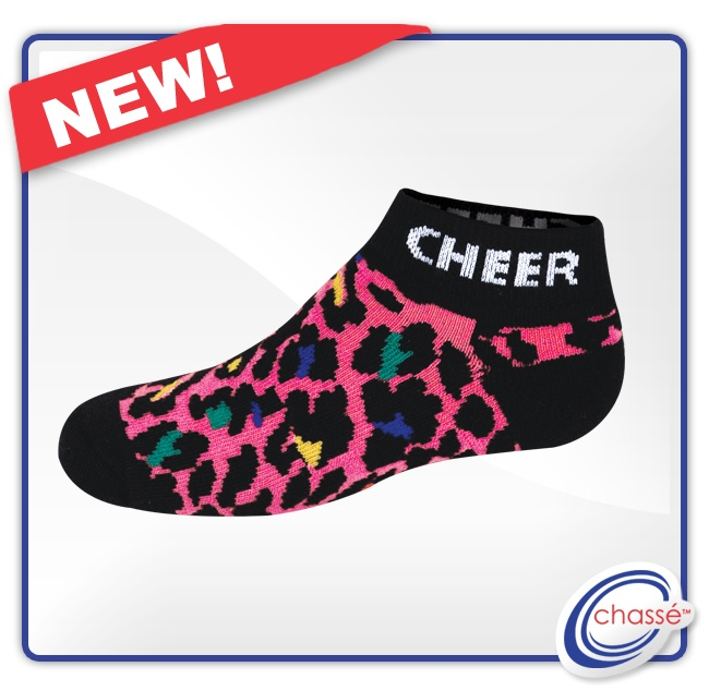 #Pink cheetah #cheerleading sock from Omni Cheer. Also comes in zebra print and as a knee-high. (item IS123)