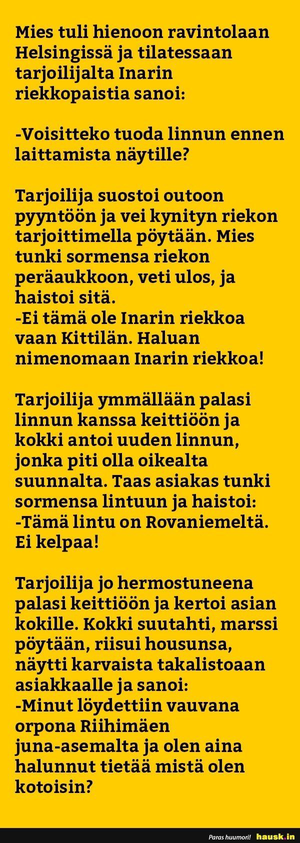 Mies tuli hienoon ravintolaan Helsingissä ja... - HAUSK.in