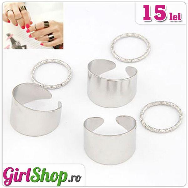 Set de 6 inele reglabile argintii -> doar 15 lei  http://www.girlshop.ro/cumpara/set-de-6-inele-reglabile-argintii-23  #inel #inele #set  #girlshop #bijuterie #bijuterii #accesorii #accesoriu