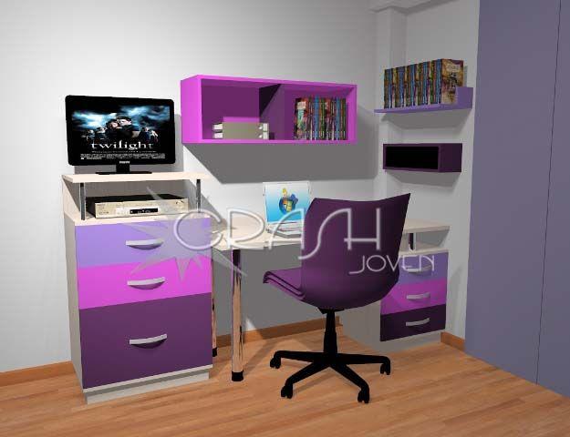M s de 1000 ideas sobre escritorio moderno en pinterest for Escritorios dobles juveniles