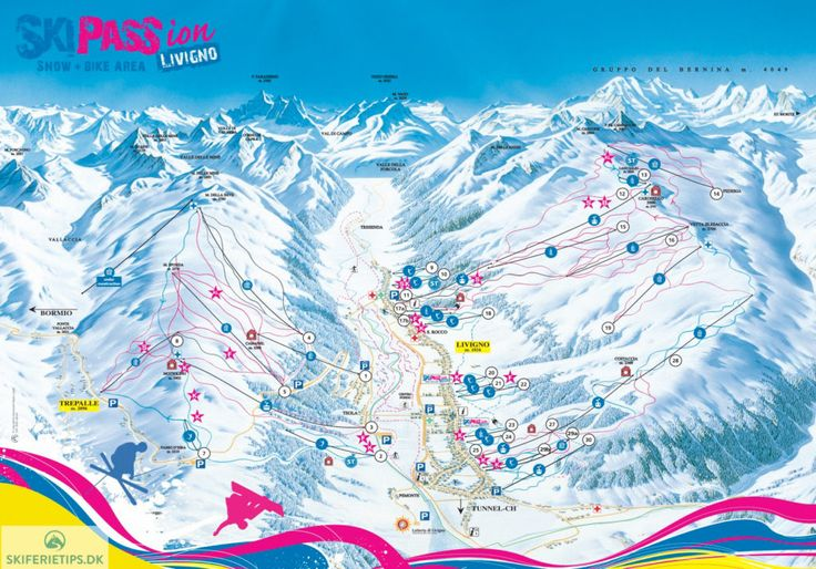 Livigno Piste Map (High resolution / .JPEG) #livigno #skiing #italy