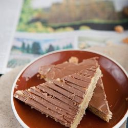 Delicious caramel slice that goes perfectly with your morning coffee.