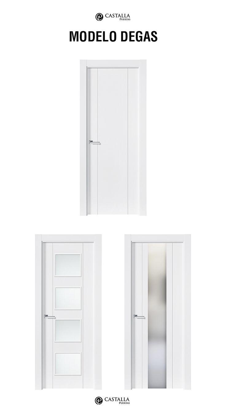 Puerta de interior con cristal Modelo DEGAS. Puertas Castalla | Glass interior door DEGAS. Castalla Doors