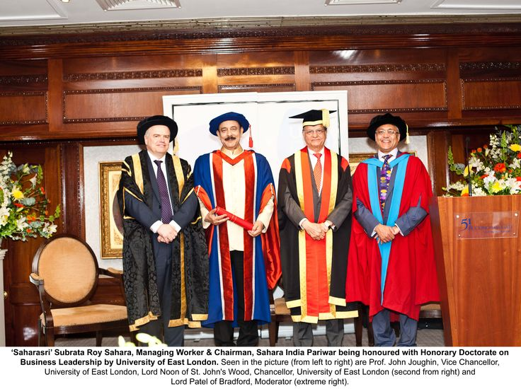 Saharasri Subrata Roy Sahara receives Honorary Doctorate of Business from University of East London
