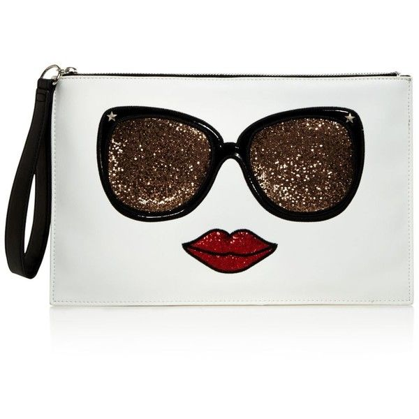 Carlos by Carlos Santana Eyes Have It Graphic Glitter Clutch - Compare... (£16) ❤ liked on Polyvore featuring bags, handbags, clutches, carlos by carlos santana handbags, glitter handbag, glitter purse, carlos by carlos santana and glitter clutches