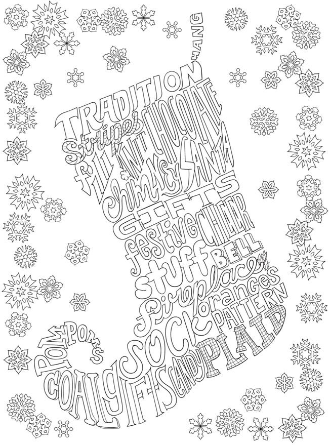 Creative Haven Whimsy Christmas: A Wordplay Coloring Book
