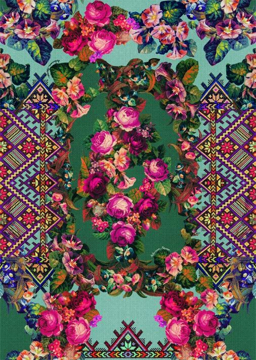 'Alto Inverno 2013' Adriana Barra designer #bohemian #floral #pattern