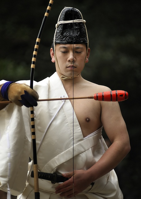 Momote Shiki by ajpscs, via Flickr -  Momote-shiki (百々手式), an archery ritual to commemorate Seijin-no-hi (Coming-of-Age Day) in the precincts of Meiji Shrine, Shibuya-ku. Tokyo, Japan. S)