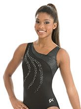 Black Slither Workout Leotard  from GK Gymnastics