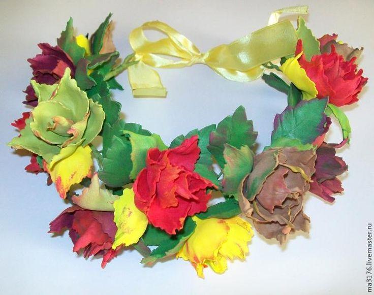 """Делаем венок для фотосессий """"Осенние розы"""" - Ярмарка Мастеров - ручная работа…"""
