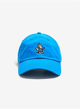 "<div>Spunky!! </div><div><br></div><div>This blue dad hat features a micro patch of Rocko. </div><div><ul><li style=""list-style-position: inside !important; list-style-type: disc !important;"">100% cotton</li><li style=""list-style-position: inside !important; list-style-type: disc !important;"">Imported</li><li style=""list-style-position: inside !important; list-style-type: disc !important;"">Adjustable; one size</li></ul></div>"