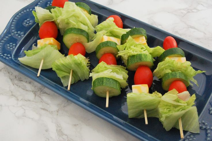 Salad is fun and kid-friendly with these salad skewers! Layer your favorite salad ingredients on a skewer to make handheld salads perfect for dipping!