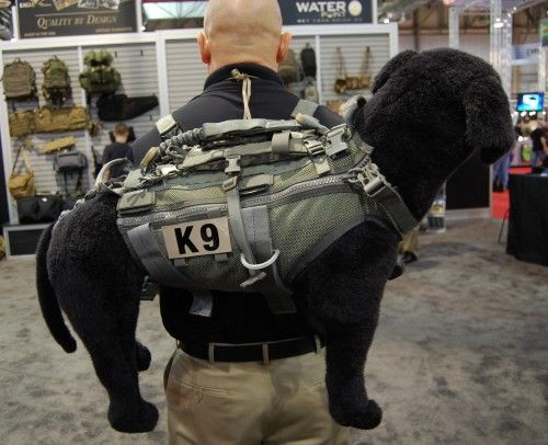 Eagle Industries has a new tactical vest for military dogs in the warzone, designed to make it easier for handlers to pull their K-9 partners out of danger. The Canine Assault Vest features a snug-fitting mesh nylon construction, an integrated leash and multiple drag-style handles.