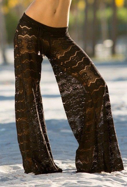 Letarte Swimwear | Skull Lace Pants   Nicdelmar.com