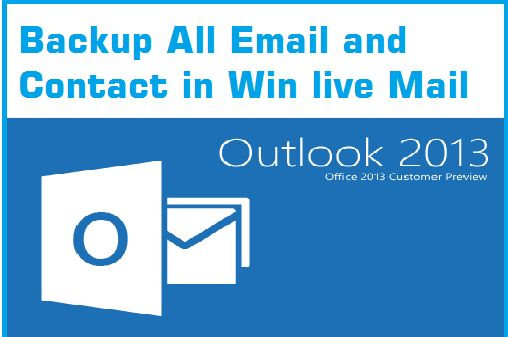 Windows Live Mail 2012 Backup Win Live mail and contacts with account settings in windows 8,10 step by steps for beginner with picture