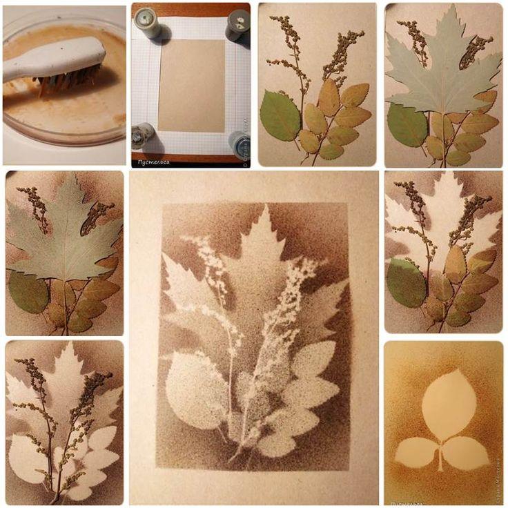 Creative Ideas - DIY Stunning Leaf Painting Using Toothbrush
