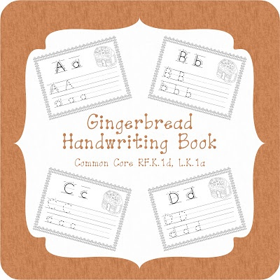 Gingerbread Handwriting Book! Help your kids perfect their handwriting with this cute book!  2$