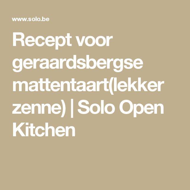 Recept voor geraardsbergse mattentaart(lekker zenne) | Solo Open Kitchen