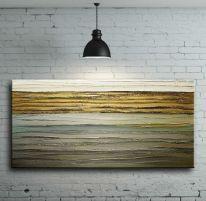 Obraz ręcznie malowany na płótnie galeryjnym POZIOME STRUKTURY 60x120cm