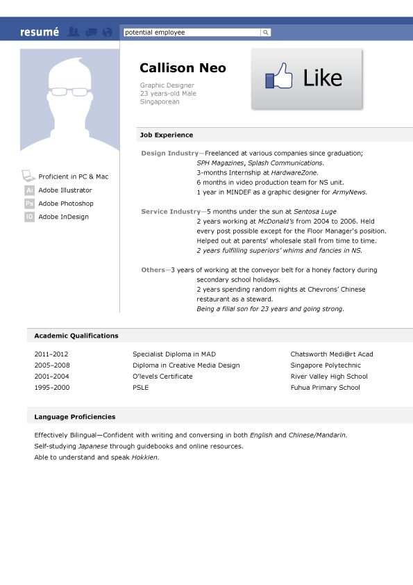 Best Creative Resume Design Images On   Cover Letter