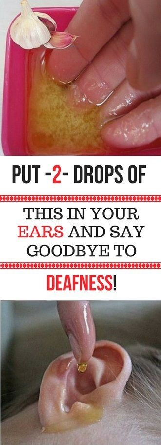 PUT 2 DROPS OF THIS IN YOUR EARS AND SAY GOODBYE TO DEAFNESS! THIS POWERFUL REMEDY WILL RETURN YOUR HEARING UP TO 100%!