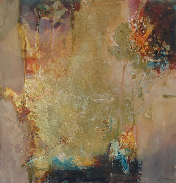 circadian poetry ~ mixed media and oil ~ by joan fullerton