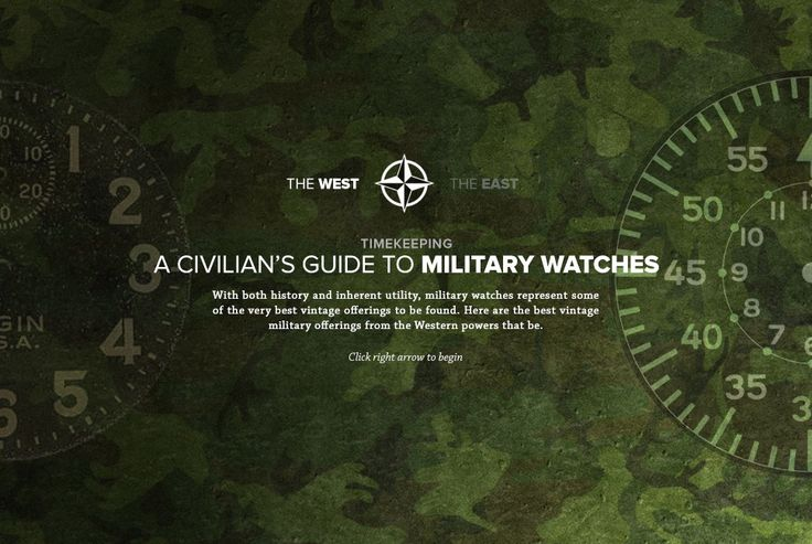 Best Vintage Military Watches from the West - Gear Patrol. A Compendium of Wearable History - A CIVILIAN'S GUIDE TO MILITARY WATCHES, PART ONE: THE WEST.