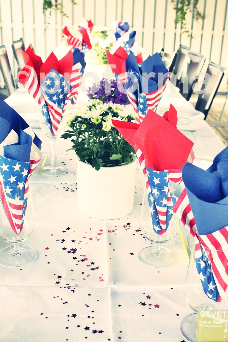 American Themed Dinner Party Ideas Part - 26: American Theme Party Or Red White N Blue