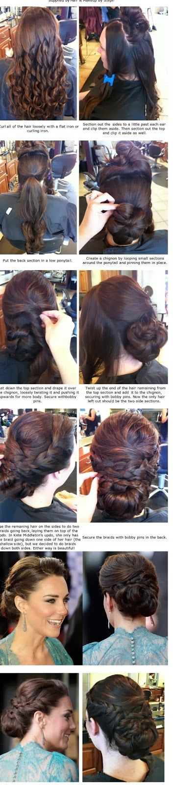 Kate Middleton Updo Hairstyle For Long Hair | Hair |Haircuts |Color