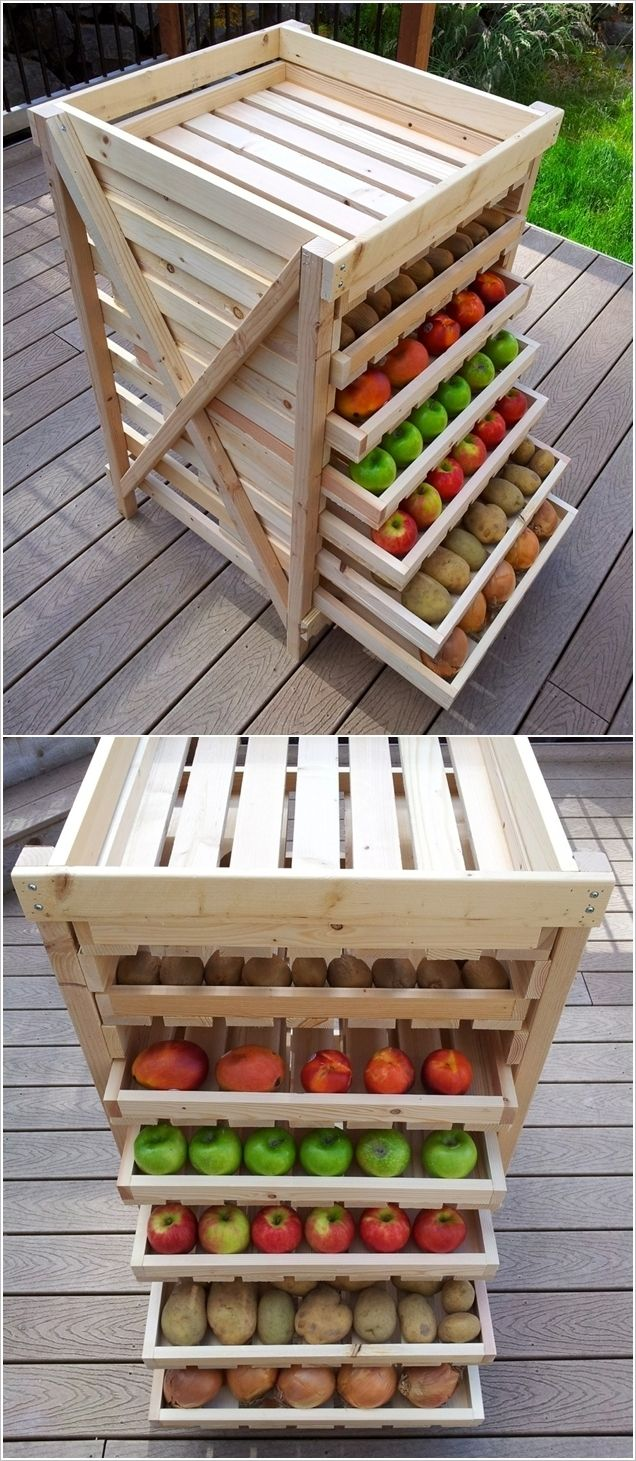 Build a Wooden Storage Rack with Slide-Out Shelves