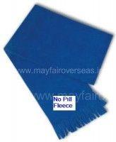 fleece scarves with emb. logo